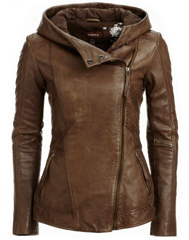 I LOVE that this has a hood!!!! WANT. Danier : women : jackets & blazers : |leather women jackets & blazers 104030573|
