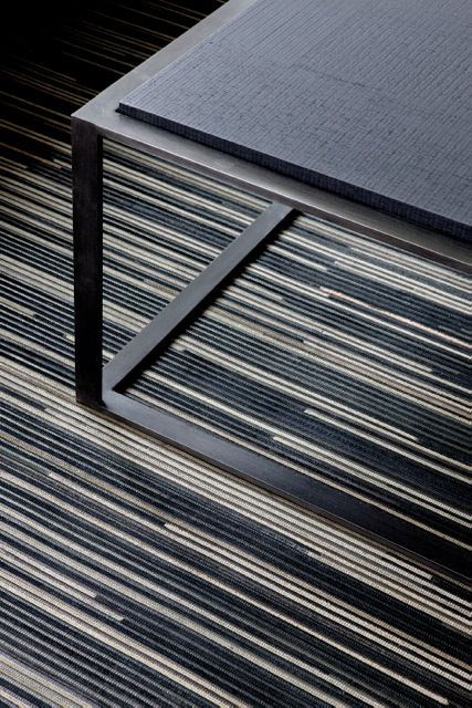 'Zebrano - Black' by Limited Edition. Zebrano is made out of traditionally woven leather. | www.le.be | Collection 2015 #bespoke #rugs #carpets #madeinbelgium #rawmaterials