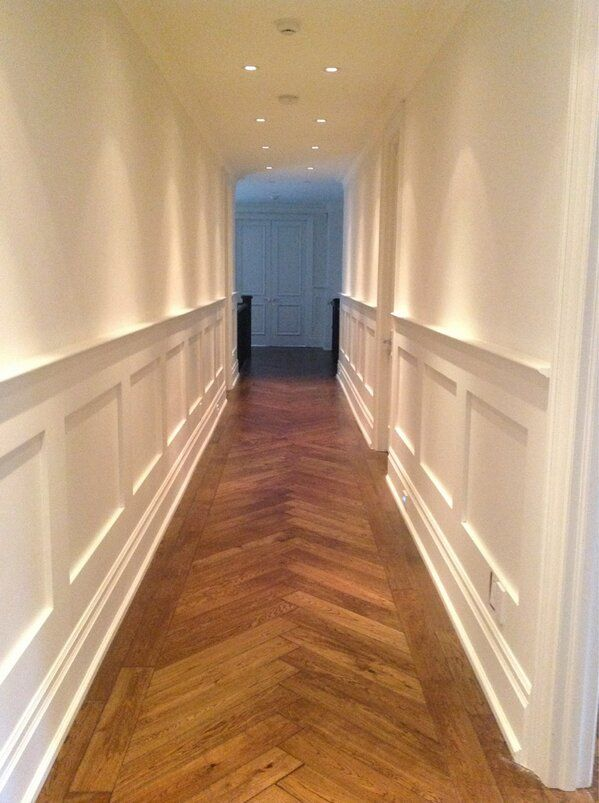 Wood panelling, walls and ceilings all painted by NGI