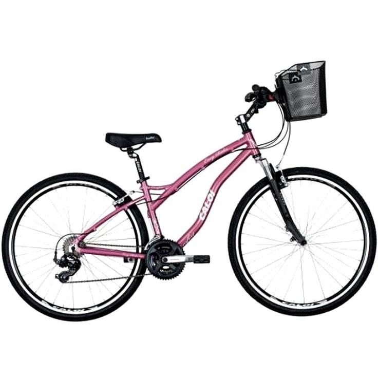 Bicicleta Híbrida Caloi Easy Rider Feminina Aro 700 Rosa 2013