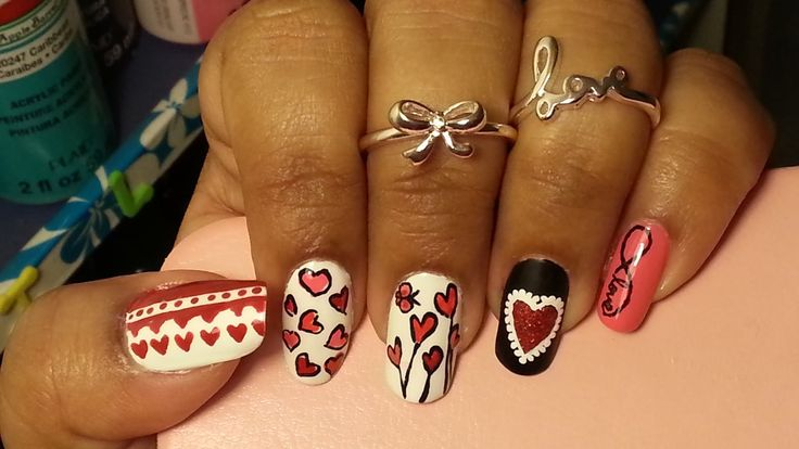 Valentine's Day Special:Love Mash Up Nails( 5 Different Nailart Designs ...