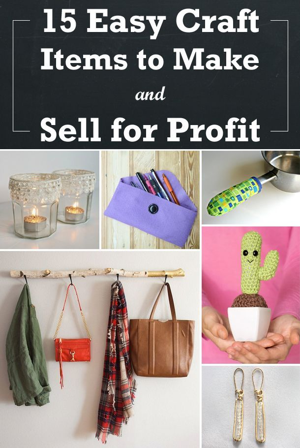 15 easy craft items to make and sell for profit crafts for Great crafts to make and sell