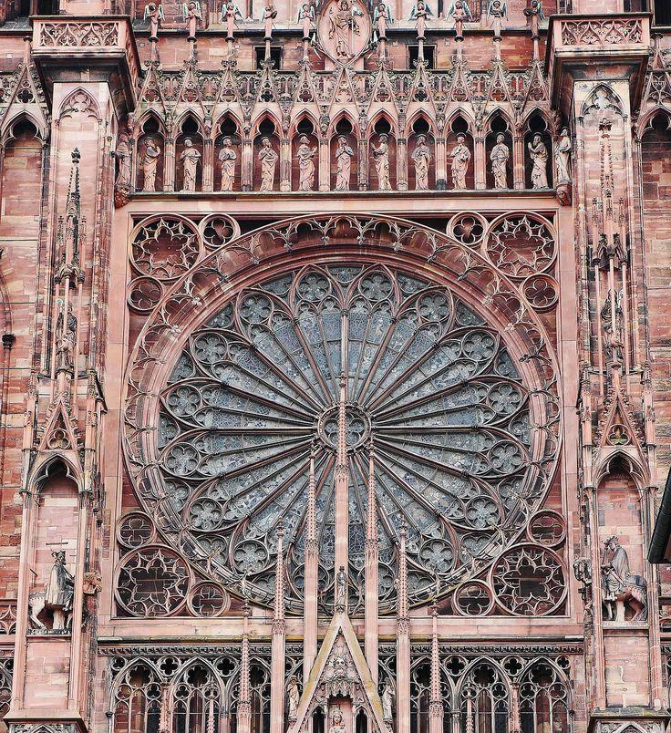Strasbourg, Münster, Rosetón, Portal, Decoradas