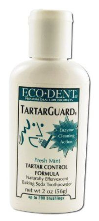 Eco-Dent Tartar Guard Baking Soda Toothpowder ~ Their price $8.99 -  Tartar Control Formula, Fresh Mint ~ 2 oz (56 g): Health & Personal Care -  No Fluoride, Dazzling Mint, Ingredients: Sodium Bicarbonate (Baking Soda), Tartaric Acid, Sodium Methyl Cocoyl Taurate, Dicalcium Phosphate Dihydrate, Calcium Carbonate, Magnesium Carbonate, Sea Salt, Hydrated Silica, 2 oz (56 g): Health & Personal Care-100% CRUELTY-FREE SLS-Free NO DYES OR SWEETENERS. Our Price $6 ~ SN-S-4.31