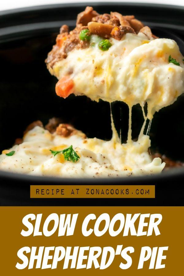 Slow Cooker Shepherd S Pie In 2020 Slow Cooker Recipes Beef Comfort Food Recipes Dinners Shepherds Pie