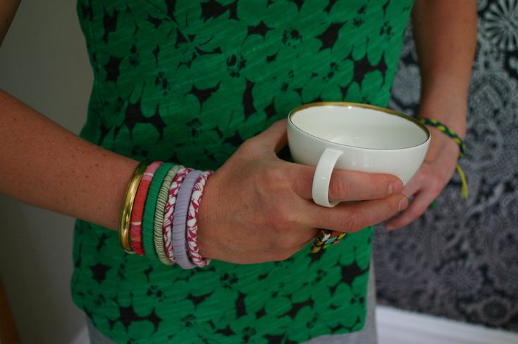 Repurposing old t-shirts (or any fabric) into bangles