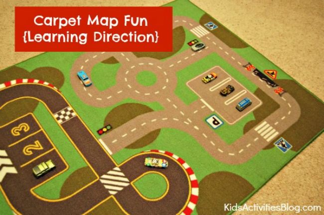 Learning Direction Carpet Map Fun Carpets Activities