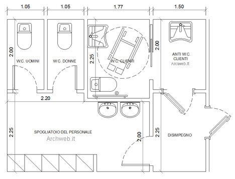 Bagni pubblici dwg servizi igienici per il pubblico 2 bathroom pinterest search - Dimensioni bagno di servizio ...