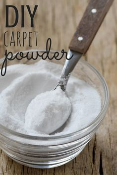 DIY Deodorizing Carpet Powder With Essential Oils