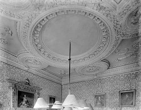 Coleshill House. A view showing the billiard room ceiling…
