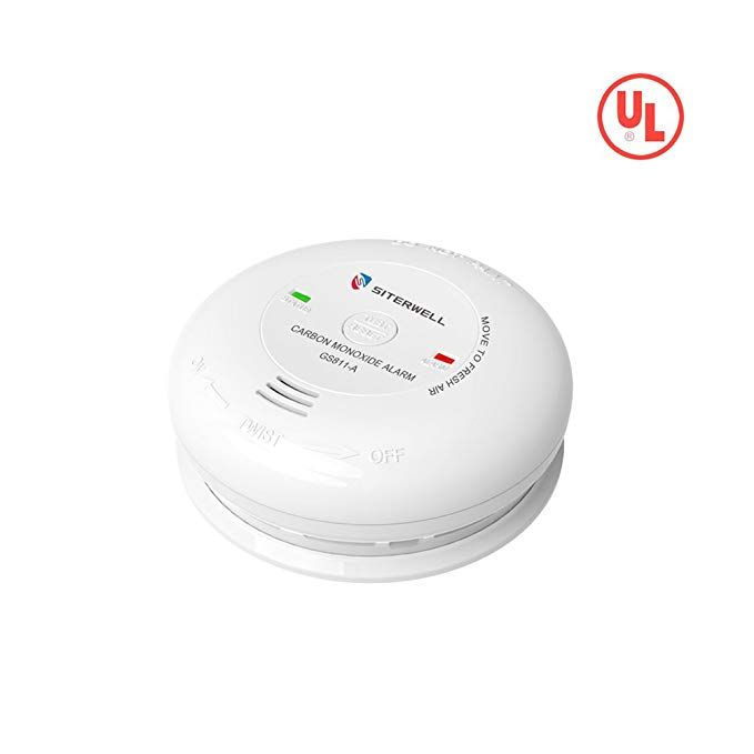 Siterwell Carbon Monoxide Detector Battery Powered Co Alarm With Ul Listed Test Reset Button Electrochemical Sensor B Carbon Monoxide Detector Sensor Detector