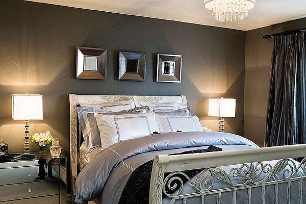 Client bedroom designed by Glen & Jamie from Peloso Alexander Interiors. #bedroom #lamp #bed #design #GlenandJamie