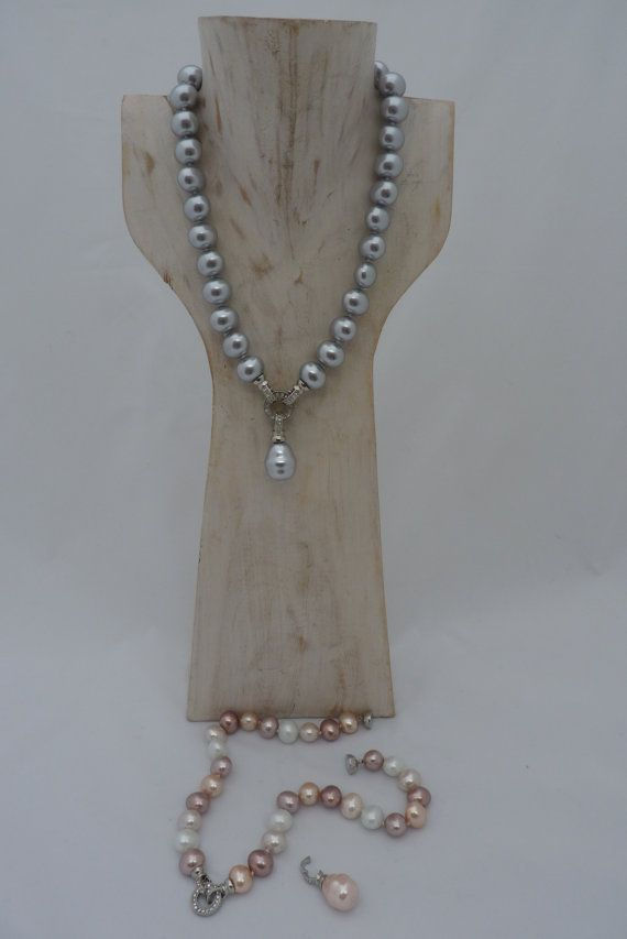 Necklace AAA Grade South seas shell pearls with by UPMARKETJEWELS on ETSY