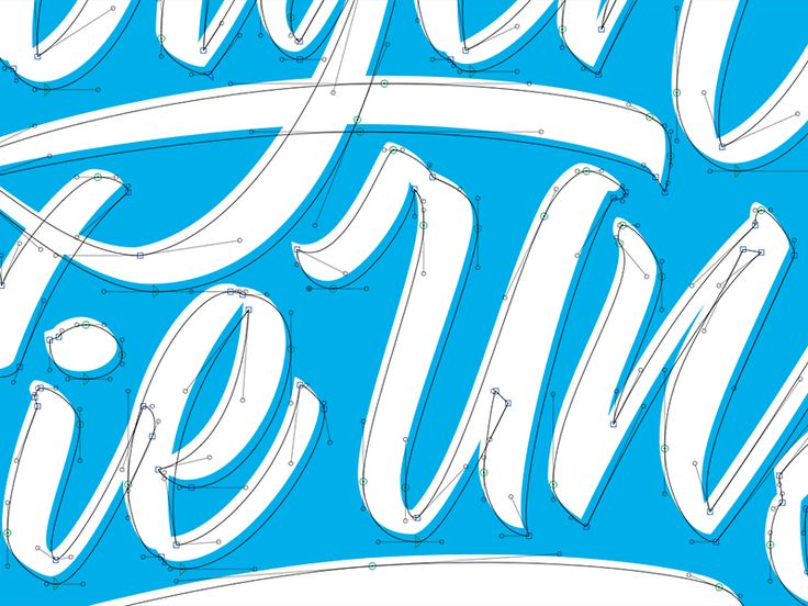 Fussing with Bézier curves Lettering practice, Lettering