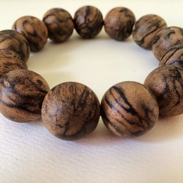 Photo by @grandawood - Beautiful newly made very high quality Indo bracelet. Great aroma. Great value. #agarwoodbracelet #agarwoodbeads #genuineagarwood