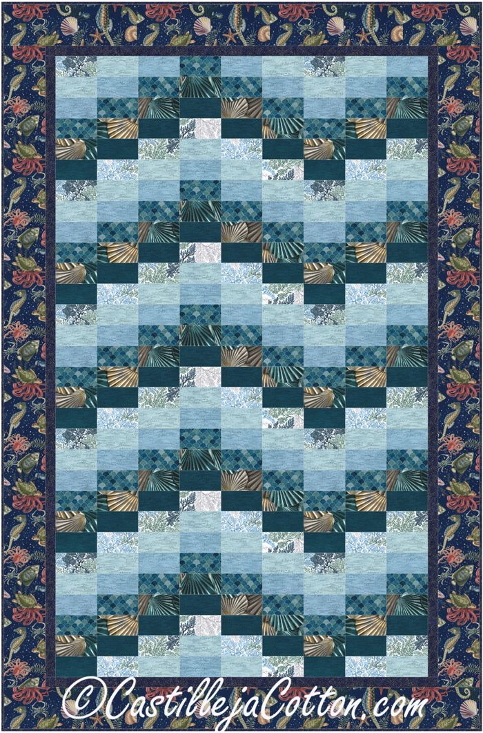 Ocean Beach Quilt Pattern Cjc 5082 Quilting Beach