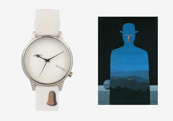 Komono x René Magritte — hodinky Estelle — dámské — surrealistické motivy — The King's museum — Královo muzeum #watches #komono #surrealism #magrite #renemagritte #surrealismus #hodinky #estelle