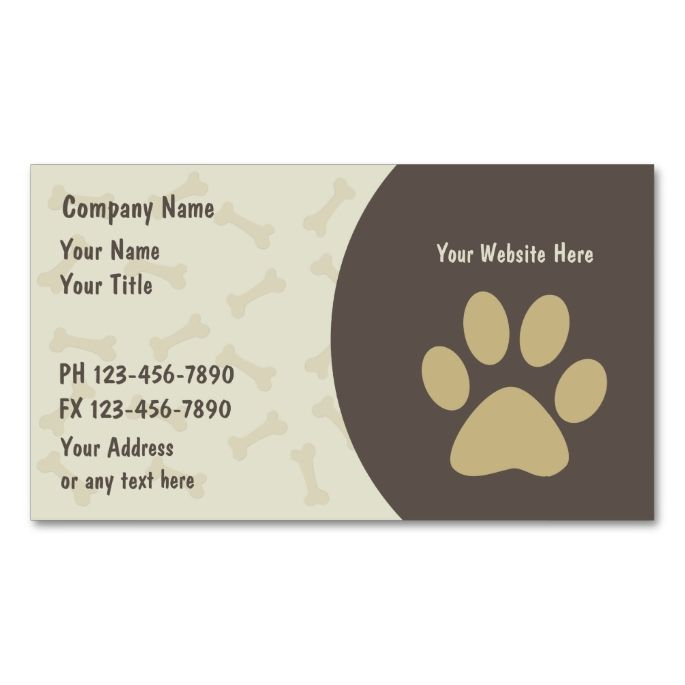 2185 best images about Animal Pet Care Business Card