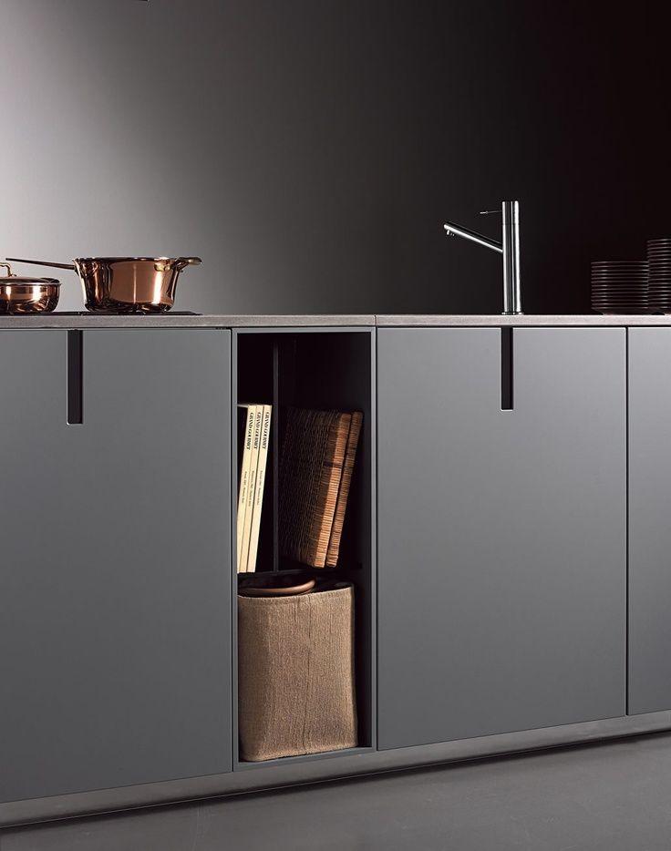 Modern kitchen interior design inspiration http://bycocoon.com | sturdy stainless steel kitchen taps | kitchen design | project design & renovations | RVS keukenkranen | Dutch Designer Brand COCOON | HD23Rosanna Kitchen by Massimo Castagna