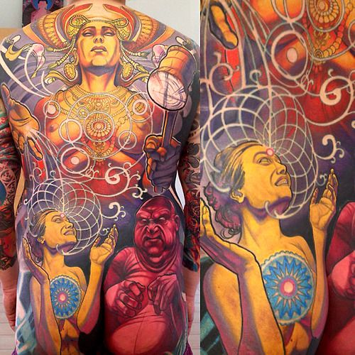 24 best mural tattoos images on pinterest tattoo designs for Back mural tattoo designs