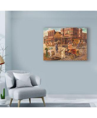 Lee Dubin 'Main Street Building' Canvas Art – 47″ x 35″ – Multi