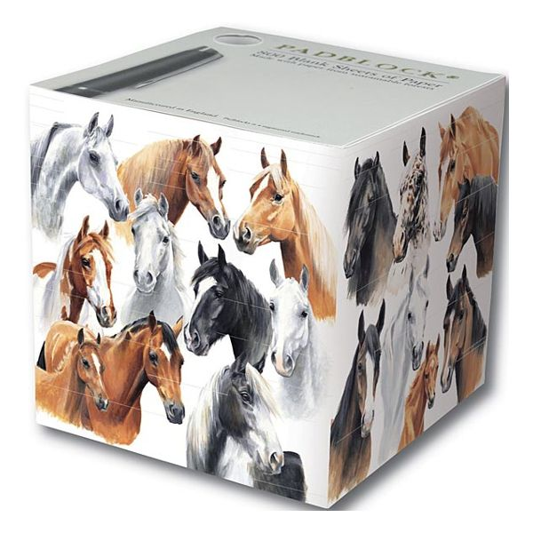 Butik Quse - PADBLOCKS Papperskub 'Horses by Caroline'