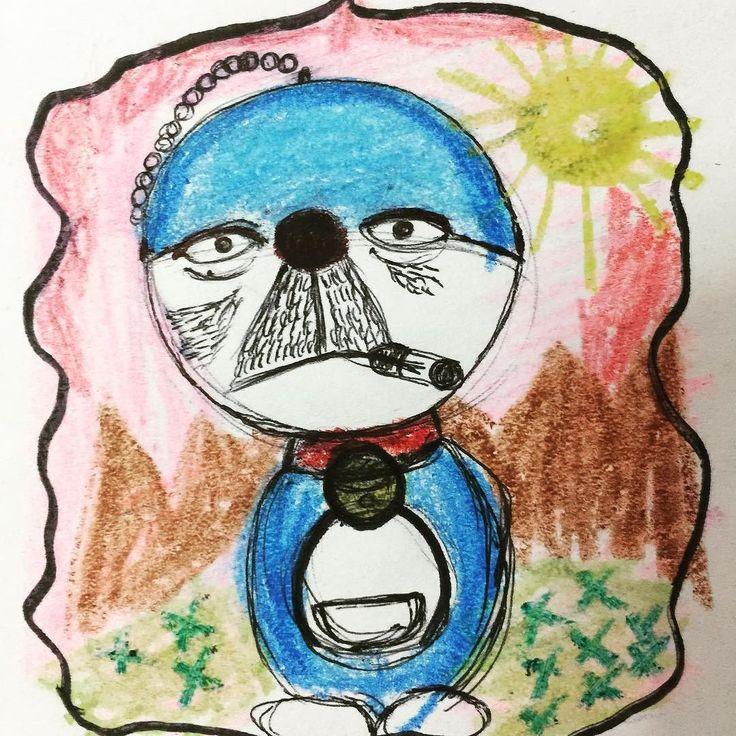 Jajajaja @stuartstratu  #doraemon #artbrut #abstractart #rawart #naiveart  #crayon #artbrute #artcontemporain  #instagood #creative #beautiful #dibujo #drawing #queerart #artwork #doodle #contemporaryart #illustration #creepyart #primitiveart #paper #instaart #sketchbook #instaartist #expressionism #artoftheday #modernart #rawartist #art #outsiderart
