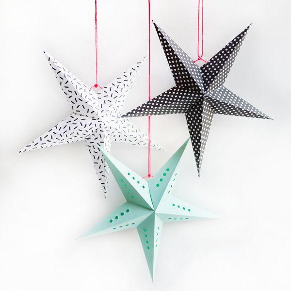 Haz tu estrella de papel y decora el hogar para la navidad. Manual con descargable para realizar estrellas de papel y conseguir una decoracion original.
