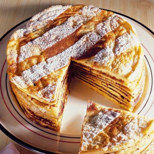 Tort de clătite cu ciocolată - Retete culinare - Romanesti si din Bucataria internationala