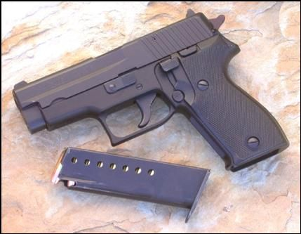I know many won't agree, but given where I go and what I've encountered I always carry a handgun with me in my chest pack. My preference is a Sig Sauer P225. It's light, accurate as a nail driver and packs enough punch or noise to take down or scare away most unwanted intruders in your camp or on the trail. The model I carry is 9mm and is perfect for me in a quickfire situation as far a accuracy goes. While you may never need it, the one time you do - you'll be glad you had it.