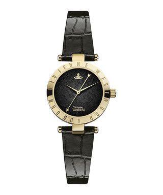 Westminster black leather moc-croc watch Sale - Vivienne Westwood Sale