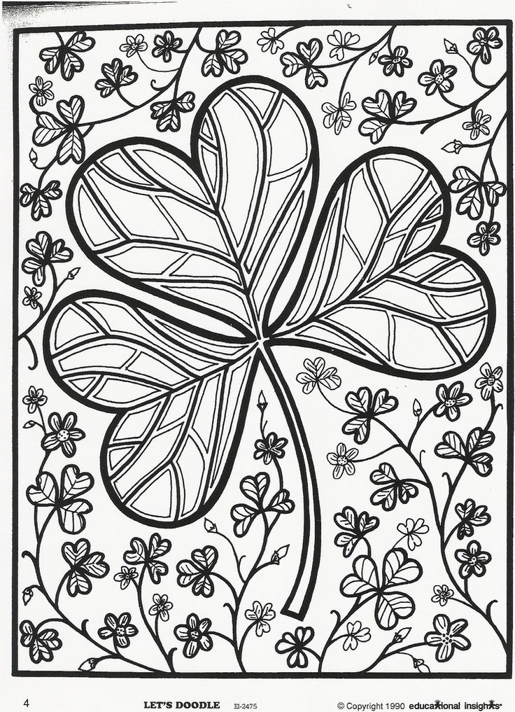 St Patrick 39 s Day Shamrock Coloring Page Free Educational