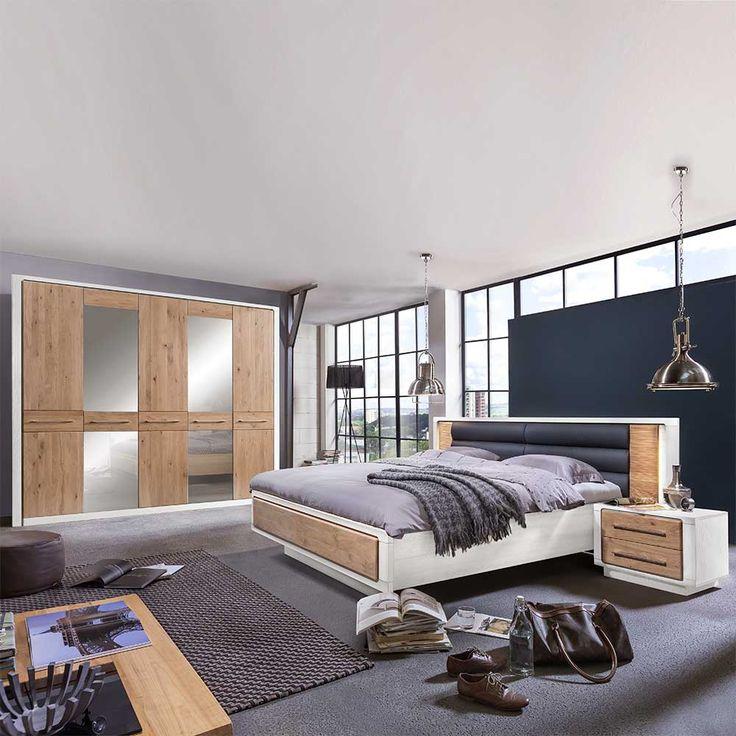Best Mit diesem Schlafzimmer Komplettset haben Sie Ihre Schlafzimmereinrichtung gefunden Wei kombiniert mit Eiche Massivholz