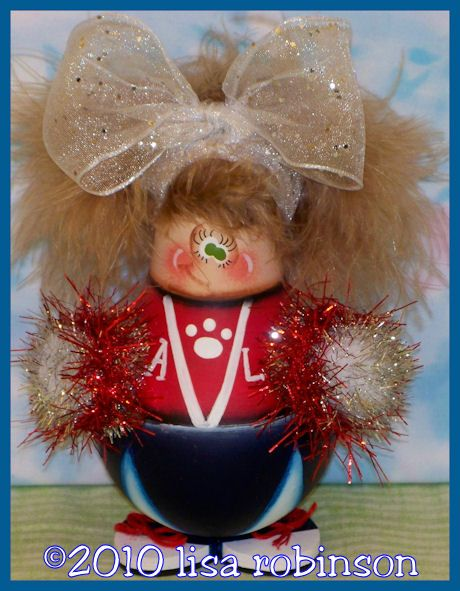 CHEERY Epattern Pdf Cheerleader Recycled Light Bulb Prim Chick Painting Pattern 765