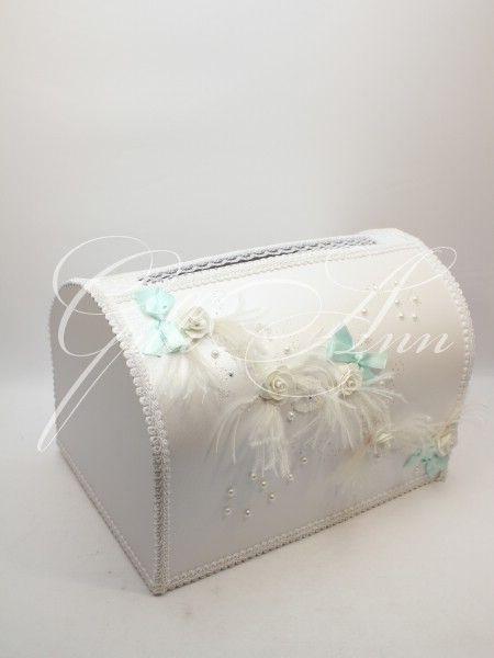 Свадебная казна для денег Gilliann White Rose BOX046, http://www.wedstyle.su/katalog/anniversaries/wedding-box-money, wedding box