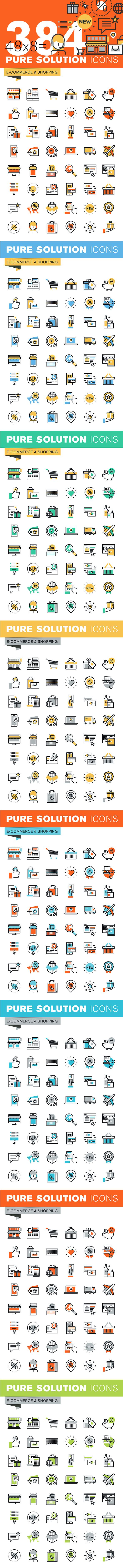 Set of Thin Line Icons of E-Commerce and Shopping on Behance