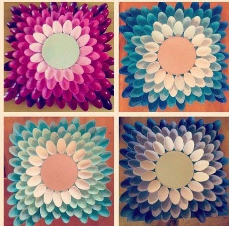 Las 25 mejores ideas sobre manualidades con materiales for Manualidades para decorar espejos