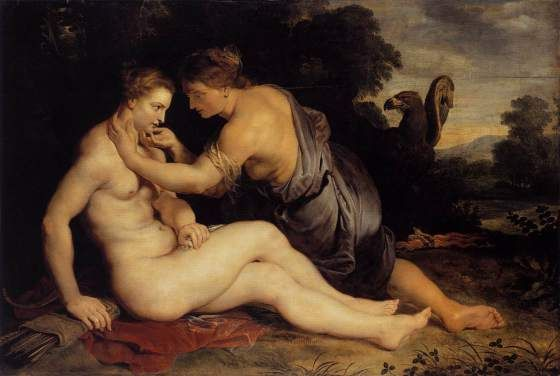 Getting the girl of your dreams? Just disguise yourself as her best friend! That's the way Zeus plays the game with the poor Callisto. Painting by Rubens (1613).