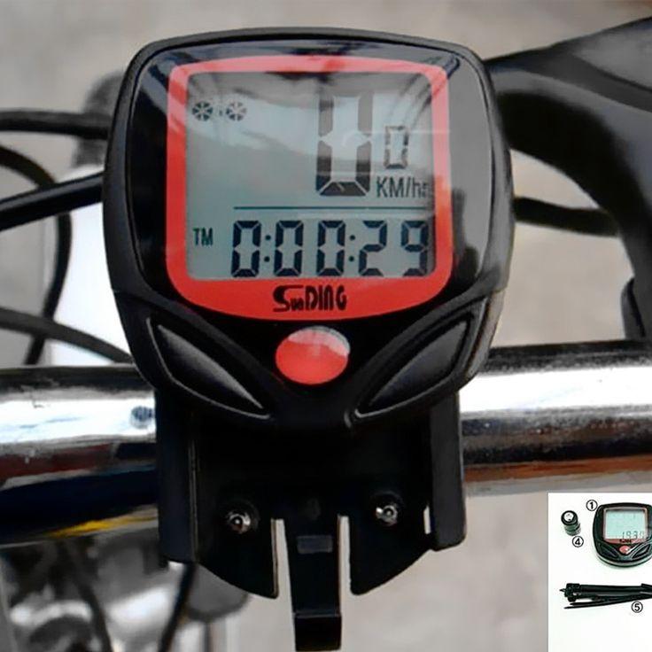 Computadora de la bici Impermeable Ocio 14 Pantalla LCD de Funciones MTB De Bicicletas Ciclismo Cuentakilómetros Velocímetro Deportes MBI-67