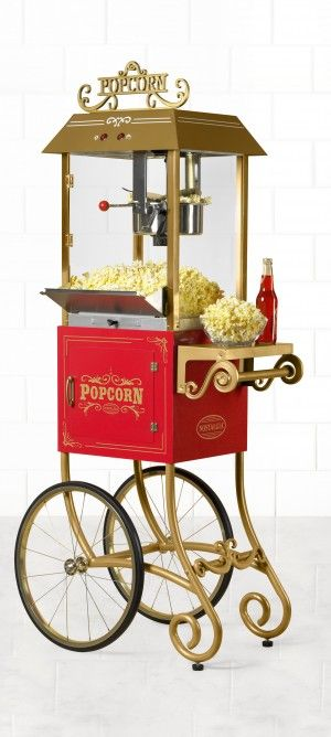 Popcorn - Vintage | Nostalgia Electrics CCP900 | Vintage Collection™ 1890s Antique 8.0 oz. Popcorn Cart