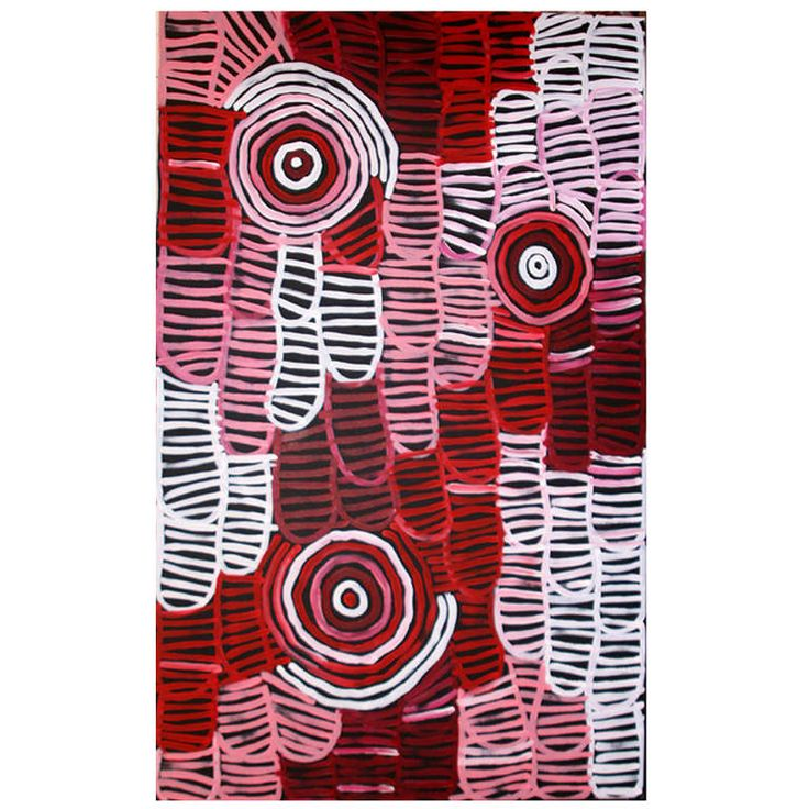 Australia Aboriginal painting Awelyewe- Atnwengerrp Dreaming by Minnie Pwerle | From a unique collection of antique and modern paintings at http://www.1stdibs.com/furniture/wall-decorations/paintings/