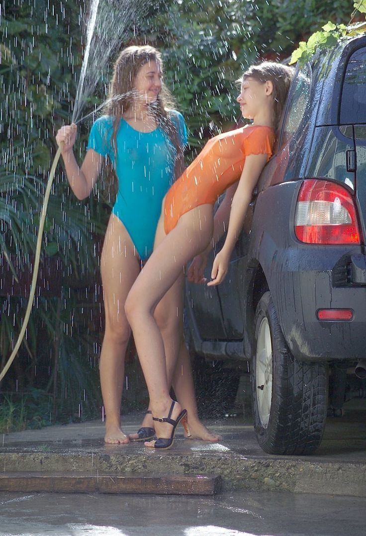 Getting each other wet. No, I don't mean like that. Or maybe I do…