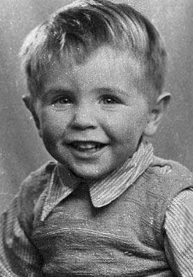 Scientist Stephen Hawking as a toddler.