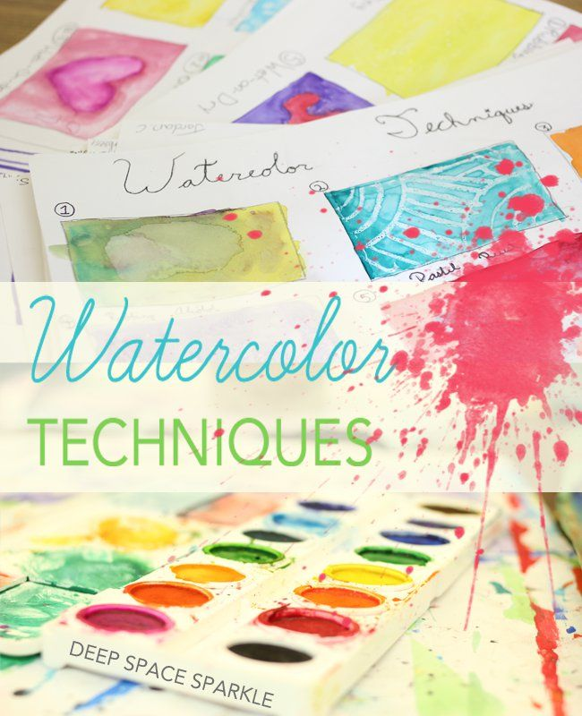 A practice lesson of watercolor techniques that helps kids prepare for more advanced watercolor art lessons