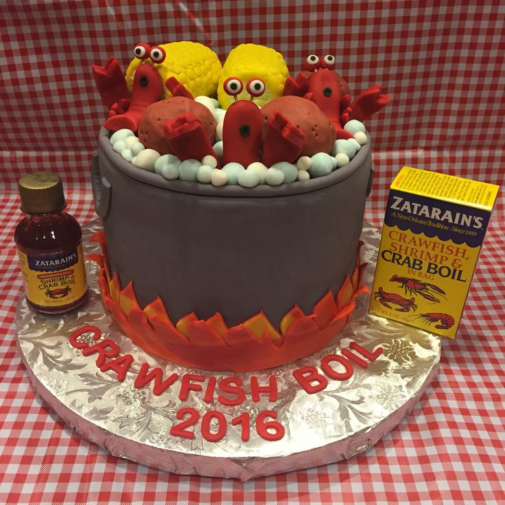 Crawfish boil cake! Crawfish party!