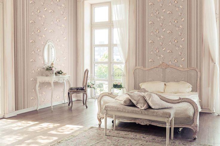 Princess Bedroom. Romantic Wallpaper. Italian Style Tradition. Essener. Wirz Tapeten AG