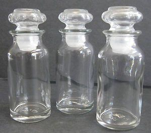 Glass Apothecary Jars Spice Containers Herb Storage Glass Jars Lids SEALED  Set 3 | EBay