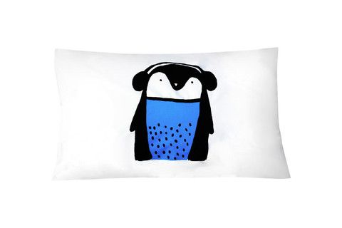Blue Penguin Pillowcase - Single