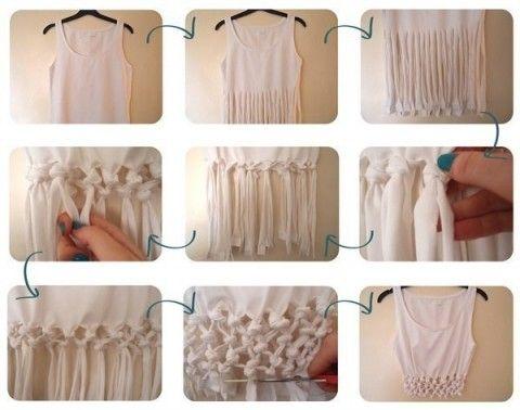 Декор футболки. Плетеные буфы