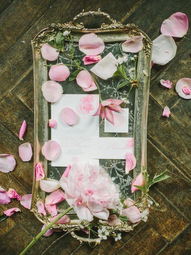 Pink wedding invitation suite | Rodion Shapor Photography | see more on: http://burnettsboards.com/2015/12/fairytale-rose-quartz-wedding-inspiration/